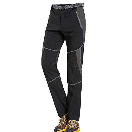- QueenMMUnsex Dry Fast Outdoot Outdoor Lightweight Hiking Mountain Pants for Men Women with Zipper Pockets Black