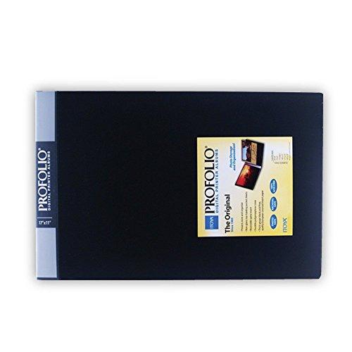 Itoya Original Art Profolio Storage/Display Book, Landscape 17 X 11 inches, Black (ID-241711)