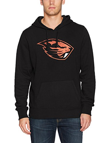 NCAA Oregon State Beavers Men's Ots Fleece Hoodie Distressed, X-Large, Jet Black