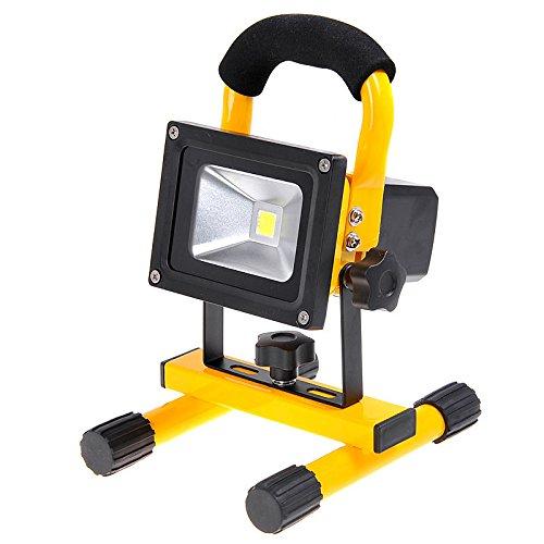 Trabajar al Aire Libre o en el Taller 30W Amarillo Pescar Ideal para Acampar Luz de inundaci/ón Recargable BU-KO 10W 20W 30W Luz LED port/átil de Alta Potencia sin Cable Ideal para emergencias