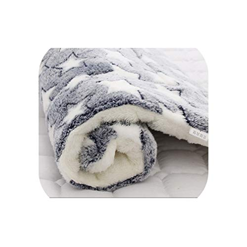 Soft Flannel Pet Mat Dog Bed Winter Thicken Warm Cat Dog Blanket Puppy Sleeping Cover Towel Cushion for Small Medium Large Dogs,Blue3,91cm x 70cm