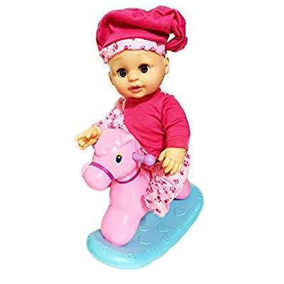 "MTT Realistic New Born Baby Doll Potty Baby: Doll That ""Pees"" on Her Potty Toy Rocking Horse: Toys & Games"