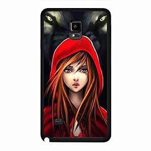 Samsung Galaxy Note 4 Funda Little Red Riding Hood Phone Cover,Little Red Riding Hood Hard Plastic Design Phone Skin