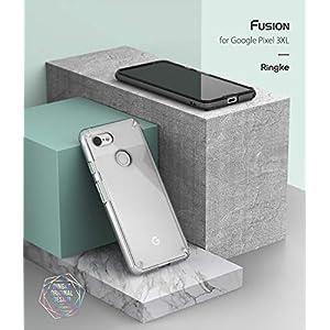 Ringke [Fusion] Compatible Pixel 3 XL Case, Clear Transparent PC Back TPU Bumper [Drop Defense] Raised Bezels Scratch Protection Natural Form Cover Google Pixel 3 XL - Clear