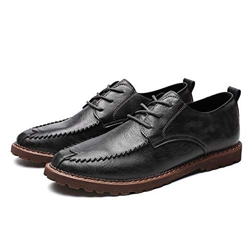 Opcional Classic Gris Negro Shoes Zapatos color Oxford 2018 Round Formal Negocios Hombre Casual Head Tamaño De Eu Hombres 44 Simple warm a8Fxwx6RqC