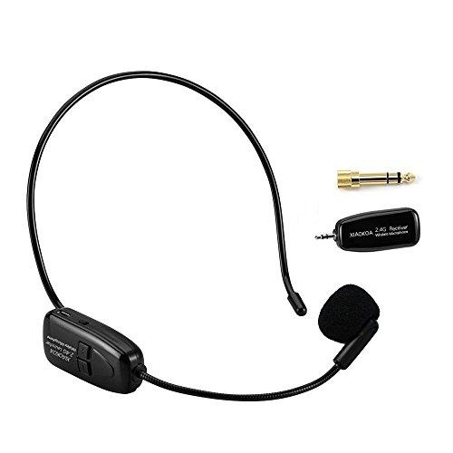 [해외] XIAOKOA 2.4G무선 마이크 헤드셋 핀 마이크 포터블40m안정 한 wireless 전송 경량 3.5 mm스테레오 미니 플러그(일본어 설명서 부착 )