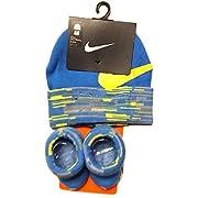 Nike Baby Boys Big Swoosh Graphic Print Hat & Booties Set 0-6M