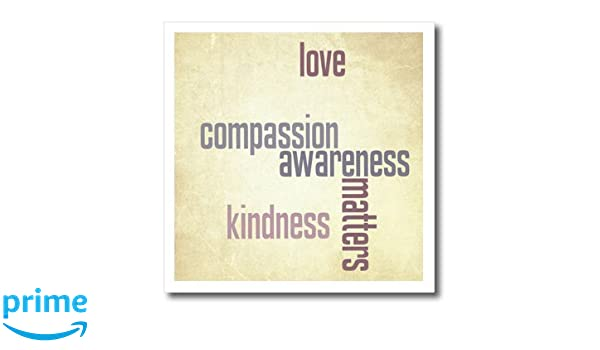 Amazon.com: 3dRose Vintage Paper Love and Kindness Matters ...