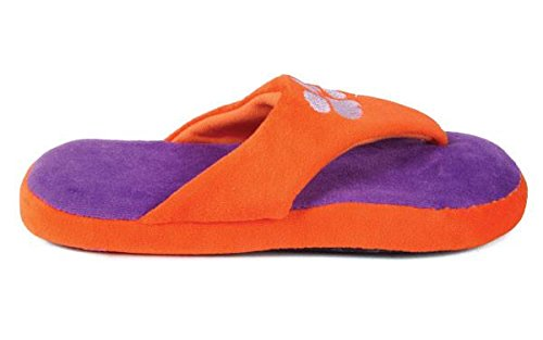 Ncaa College Comfy Flop - Con Licenza Ufficiale - Happy Feet Mens E Womens Clemson Tigers