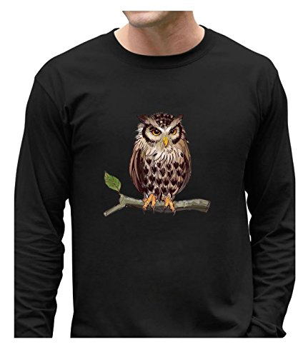 Fatal Decision Men's Funny undershirt cartoon owl black (Vip Insulation compare prices)