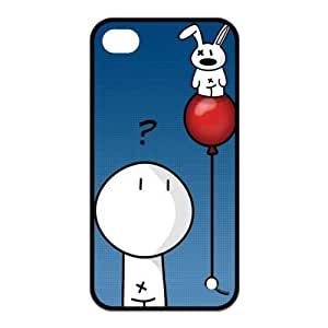 TPU RUBBER Protector Funny Creative Design Case Cover Snap On Fits Apple iphone4/4s