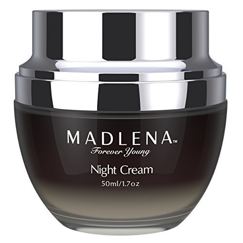 Madlena Advanced Anti-Aging Face & Neck Night Cream - Powerful Anti-Wrinkle Beauty Care - Fade Lines, Repair Blemishes, Restore Skin Tone & Boosts Cell Regeneration While You Sleep