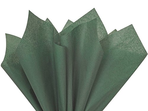"Dark Green Tissue Paper 20"" X 30"" - 48 Sheet Pack"