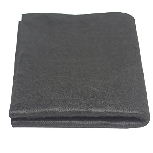"HANSWAY High Temp 18"" X 24""(WL) x1/8"" Carbon Fiber Welding Blanket Protect Work Area from Sparks & Splatte (18 x 24 inches)"