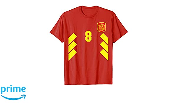 Amazon.com: Spain Football Soccer Jersey Camiseta Espana ...