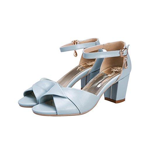 Adee - Sandalias de vestir para mujer, color azul, talla 34