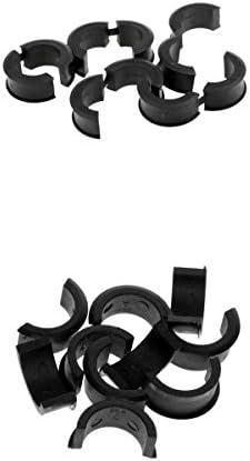 エクステンダー ハンドル ワッシャー プラスチック製 ハンドルバー スペーサー 自転車 22.2 / 25.4mm 10対入り