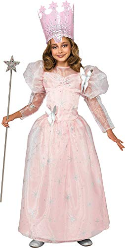 Glinda Wicked Halloween Costumes (Wizard of Oz Deluxe Glinda The Good Witch Costume, Small (75th Anniversary)