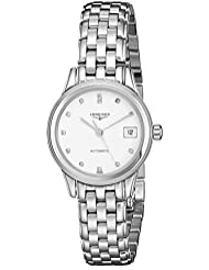 Longines Womens LNG42744276 Flagship White Dial Watch