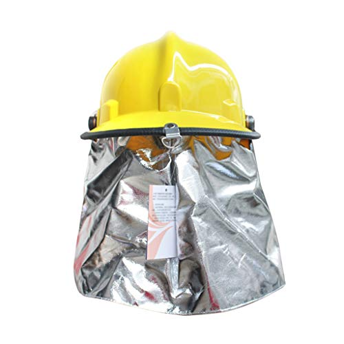 Hard Hat Fire Safety Helmet, Firemen 3C Certified Hard Hat Rescue Site Safety Helmet, Flame Retardant High Temperature Resistance Mask by Moolo (Image #2)
