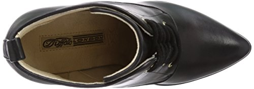 Buffalo London 114-1159 SILK LEATHER - botas de cuero mujer negro - Schwarz (BLACK 01)