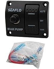 MagiDeal Marine båt Panel 3-vägs upplyst vippa bilpump strömbrytare 12 V rabatt auto manuell