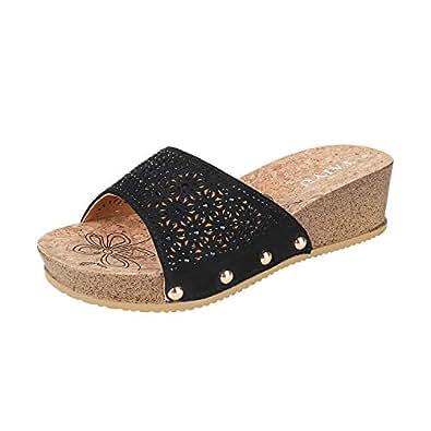 Taiyu Black Slides Slipper For Women