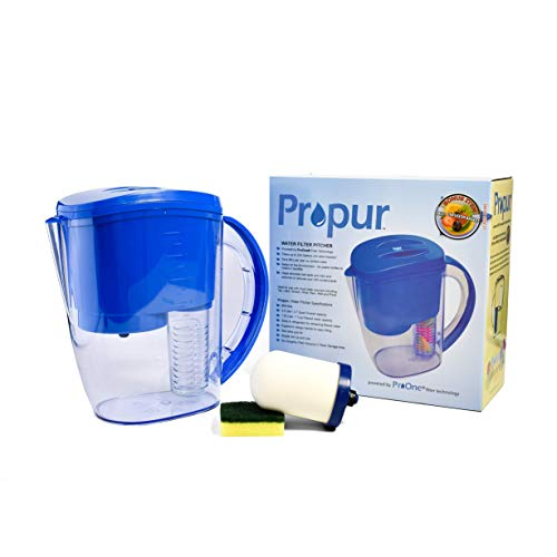 Propur Water Filter Pitcher with Fruit Infuser. Includes 1 ProOne G2.0 M Filter Element. (Best Water Filter Pitcher Remove Fluoride)