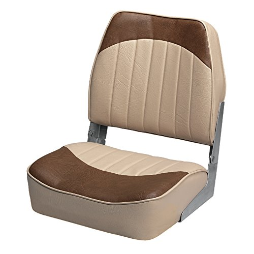 Wise 8WD734PLS-662 Low Back Boat Seat, Sand/Brown by Wise (Image #1)