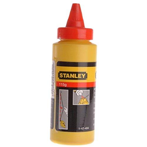 Stanley 1-47-404 Poudre à tracer Biberon de 115 g Rouge