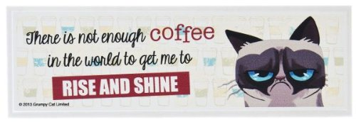 Ganz Grumpy Cat Wooden Sign, There is Not Enough Coffee in The World to Get Me to Rise and Shine