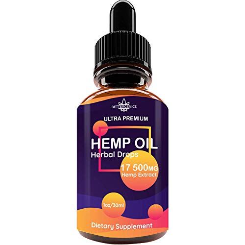 Pure Hemp Extract 17500MG for Pain Relief, Relaxation, Sleep, Anxiety and Mood Support, Natural, Organic, Vegan