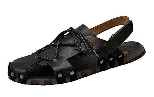 Sandals Icegrey Sandali Cuoio All'aperto nero Hiking Uomo ZXXr1WRn