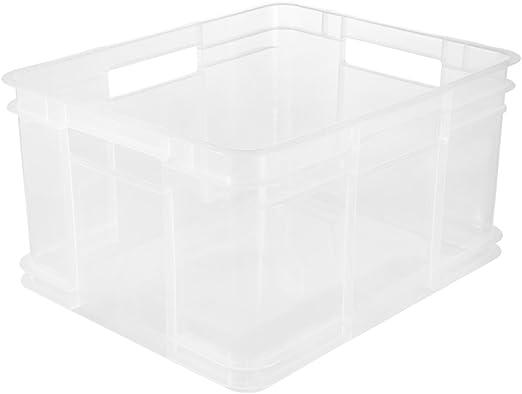 keeeper Caja de almacenaje Eurobox XL, Plástico robusto (PP), 43 x ...