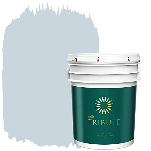 KILZ TRIBUTE Interior Matte Paint and Primer in One, 5 Gallon, Northern Sky (TB-42)