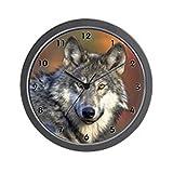 CafePress – Wolf Wolves Canine Hunt Clocks Wall Clock – Unique Decorative 10″ Wall Clock