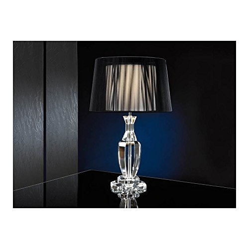 Schuller Spain 662413/7387I4L Modern, Art Deco Chrome Table Lamp 1 Light Living Room, bed room, Study, Bedroom LED, Glass Table Light | ideas4lighting by Schuller