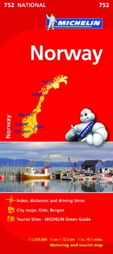 Norway Map (Michelin National Map)