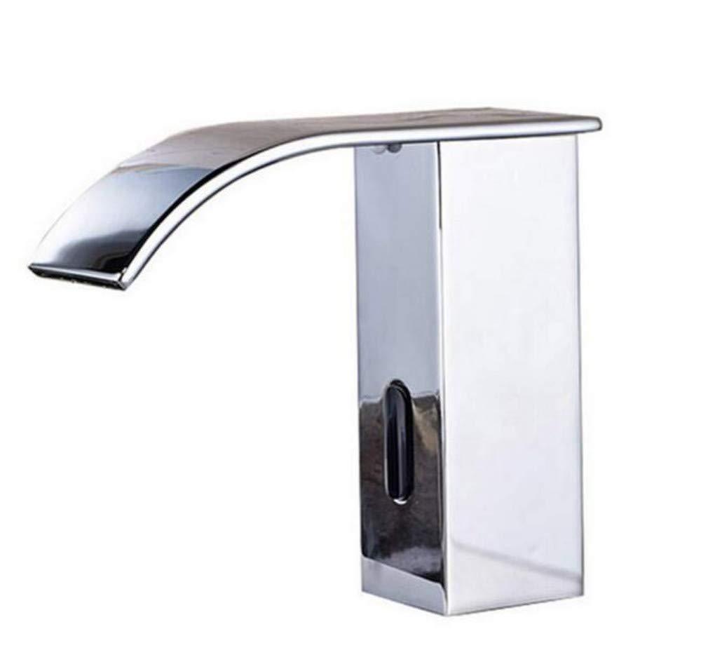 Edelstahlhahn weiße Chrombadhahn Energiefreier Sensor Wasserhahn Bad Waschbecken Deck Montiert