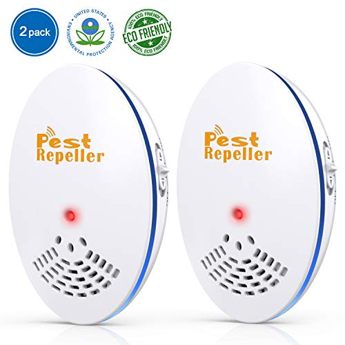 Sectpod Ultrasonic Pest Repeller - 2 Pack Insect Repeller Plug in, Best Electronic Pest Control Repellent for Rats, Mice, Mosquitos, Bugs, Spiders, Cockroaches