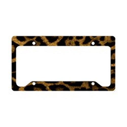 CafePress - Jaguar Print License Plate Holder - Aluminum License Plate Frame, License Tag Holder by CafePress
