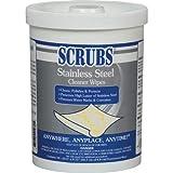 Scrubs Stainless Steel Metal Cleaner - 70 Wipes Tub - 91970 [PRICE is per PACK]