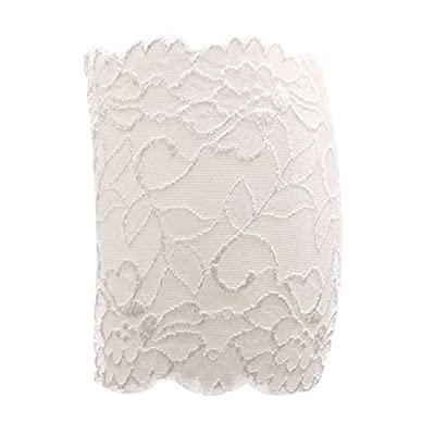 2 Pairs Stretch Lace Boot Cuffs Leg Warmers Socks Topper Cuff for Women, White at Women's Clothing store