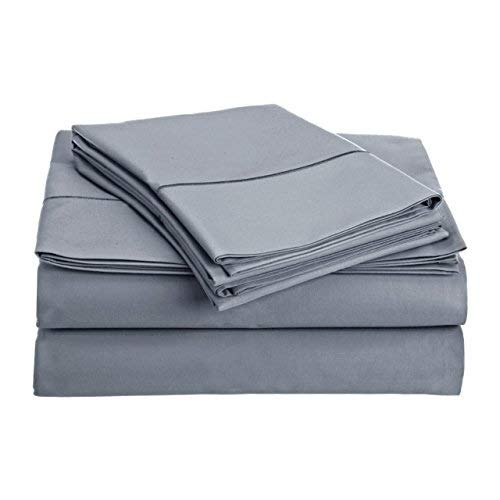 Audley Home 800 Thread Count 100% Egyptian Cotton Extra Long Staple Bed Sheet Set 4 Piece Bedding Extra Deep Pocket Upto 18