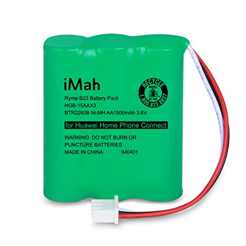iMah HGB-15AAX3 BTR2260B Battery 3.6V 1500mAh Compatible with Huawei Home Phone Connect HGB-2A10 HGB-2A10x3 515H ETS2022 ETS2222 ETS2252 ETS3023 ETS3125 ETS3253 ETS5623 F201 FT2260VW SU2026 SU2028