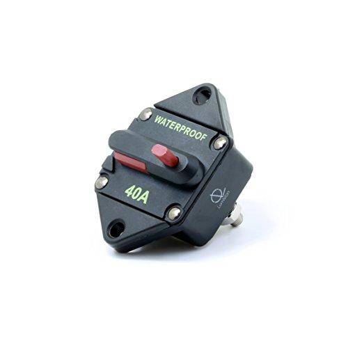 (Lumision Waterproof DC Circuit Breaker Panel Mount Resettable 12-48VDC 40A)