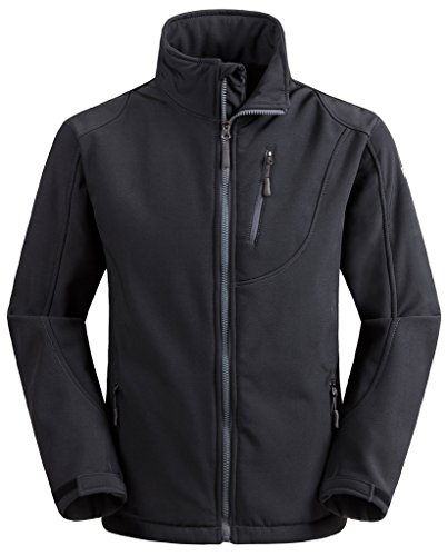 Wantdo Men's Soft Shell Jacket Front-Zip Coat(Gray, US S) by Wantdo