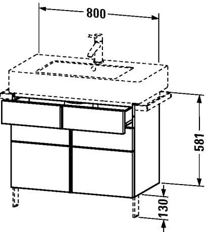 - Vanity unit Vero, floor standing 581x800x446mm ()