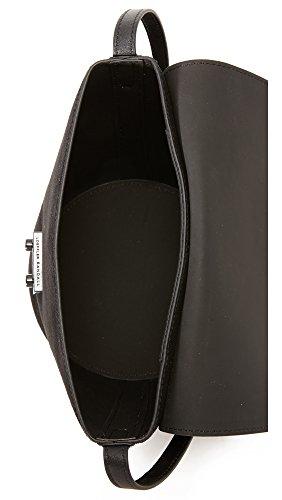 Black LOEFFLER RANDALL Vachetta Flap Bucket X7Iz4