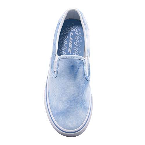 Lugz Women's Clipper Classic Slip-on Fashion Sneaker, Blue/Multi/White, 9.5